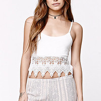 LA Hearts Crochet Trim Tie Back Tank at PacSun.com