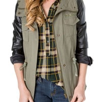 Line Up Olive Green Military Jacket