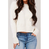 Everybody Knows Knit Sweater (Cream)
