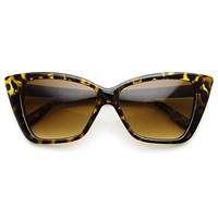 Indie Retro Bold Womens Cat Eye Fashion Sunglasses 9428