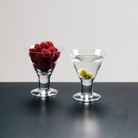 Set of 4, 4.5 Inch High, 6 Oz, Thick Stemmed Asian Martini Glasses