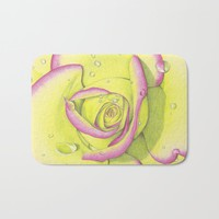 Rose - After the Rain Bath Mat by drawingsbylam