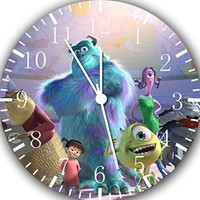 "The Disney Monsters Inc Wall Clock 10"" Will Be Nice Gift and Room Wall Decor A463"