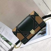 Ready Stock Dior Women's Leather Diorama Inclined Shoulder Bag #117