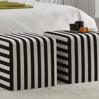 Cube Upholstered Ottoman