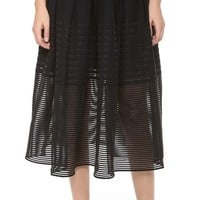 Sheer Striped Party Skirt