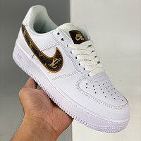 Louis Vuitton Nike Air Force 1 Low Casual Sneakers Shoes