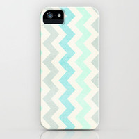 Crazy for Chevron - Vintage Slate iPhone Case by Tracey Krick Photography
