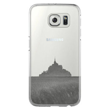 Mont Sanit Michel France  Samsung Galaxy S6 Edge Clear Case S6 Case S5 Transparent Cover iPhone 6s plus Case