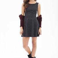 Dotted Bow-Back Dress