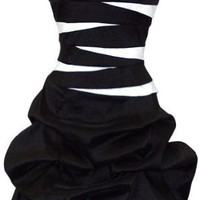 Strapless Bandage Mini Bubble Dress Prom Party Formal Gown