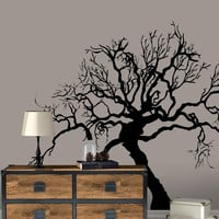 Scary Spooky Tree Bare Branches Wall Decal.  #AC221
