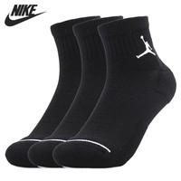 Original New Arrival  NIKE JUMPMAN QTR 3PPK Unisex Sports Socks( 3 Pairs )