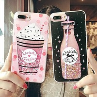 Bottle Quicksand Phone Cases for iPhone 6 6s 6s Plus 7 7 Plus