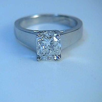 2.07 Cushion Cut Diamond Engagement Ring GIA certified JEWELFORME BLUE