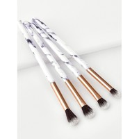 Marble Handle Makeup Brush 4pcs