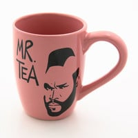 Pink Mr T Tea tea cup or mug by LennyMud on Etsy