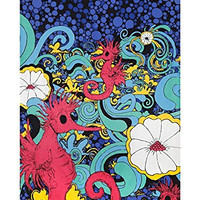 Sunshine Joy 3D Red Seahorse Tapestry Tablecloth Wall Art Beach Sheet Huge 60x90 Inches - Amazing 3D Effects