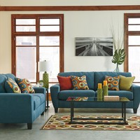 93902 - The Sagen Living Room Set - Teal