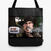 I'm Your Huckleberry (Tombstone) Tote Bag by BinaryGod.com