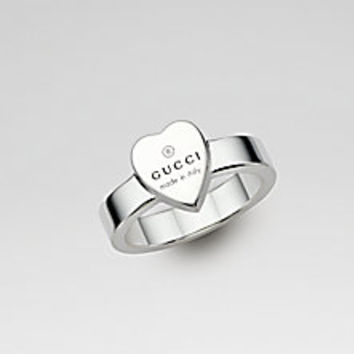 Gucci - Sterling Silver Heart Ring - Saks Fifth Avenue Mobile