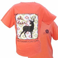 SALE Southern Couture Country Preppy Oh Deer Comfort Colors T-Shirt