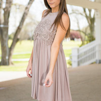 Meant To Be Dress, Taupe