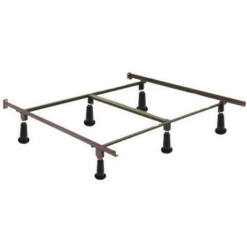 Ca King Size High Rise Metal Bed Frame with Headboard Brackets
