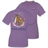 """*Closeout* Simply Southern """"Horse"""" Short Sleeve Tee"""