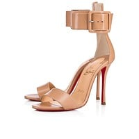 Cl Christian Louboutin Blade Runana Nude Leather 18s Sandals 1181077pk1a