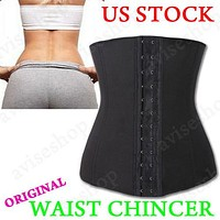 Underbust Corset Waist Cincher Trainer Girdle Sport Body Shaper Workout