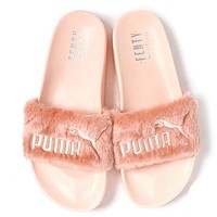 Trendsetter Puma X Rihanna Leadcat Fenty Women/Men Lover Fur Slipper Shoes