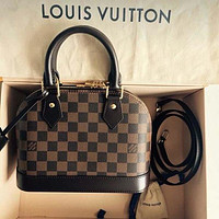 Louis Vuitton LV Monogram Handbag Satchel Tote