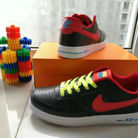 """""""Nike Air Force 1"""" Unisex Sport Casual Letter Multicolor Low Help Shoes Sneakers Couple Plate Shoes"""