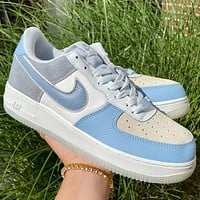 Nike Air Force 1 07 LV8 2 Blue White low-top sneakers shoes