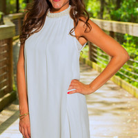 Classy In Pearls Dress, White