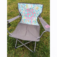 Lilly Pulitzer Inspired Monogram Lawn Chair