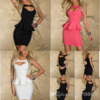 New Arrivals Lady Girls Sexy Dress Slim Evening Dresses Corset Women Hollow Out Design Bodycon Party Clubwear Freeshipping