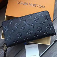 LV Louis Vuitton Women Fashion New Monogram Leather Wallet Bag