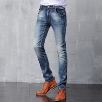 Cotton Stretch Slim Jeans [6541375299]