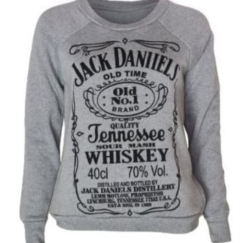 Womens Jack Daniels Sweater Top