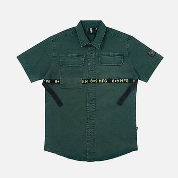 Strapped Up Vintage  Button Up Shirt Green