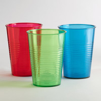 Acrylic Ribbed Tumblers, Sets of 6 - World Market