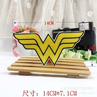 Cartoon Iron on Wonder Woman Embroidered Clothes Patch For Clothing Girls Women