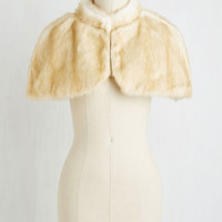 Vintage Inspired Fierce Finery Capelet in Cream