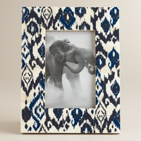 Blue Ikat Samita Frame - World Market