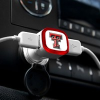 NCAA Texas Tech Red Raiders Car Charger, White