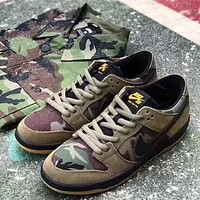 Nike Dunk Low Pro SB Sneaker ¡°Olive green camouflage¡±854866-209