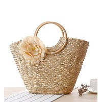 Shabby Chic Woven Bag in Four Colors