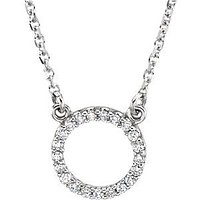 14K Gold Diamond Perfect Circle Necklace
